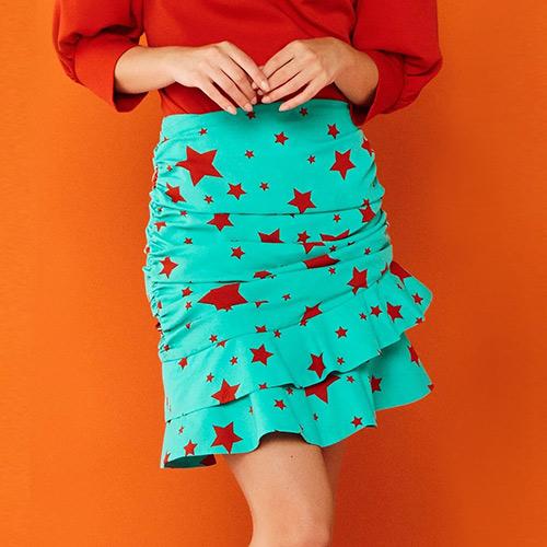 Minueto red star skirt